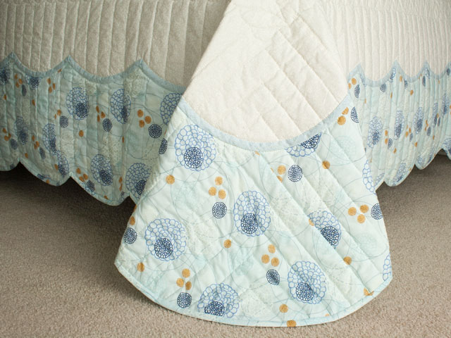Lancaster Treasure in beautiful blues with floral border