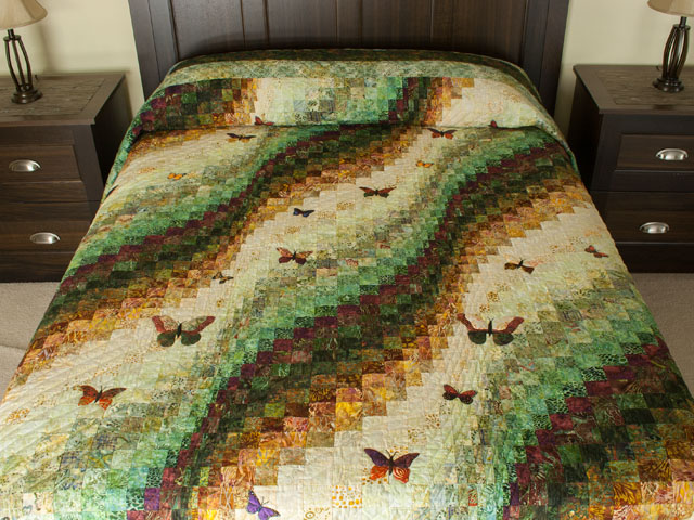 The Journey - King Quilt A combo of piecing, hand appliquéing, hand quilting Photo 1