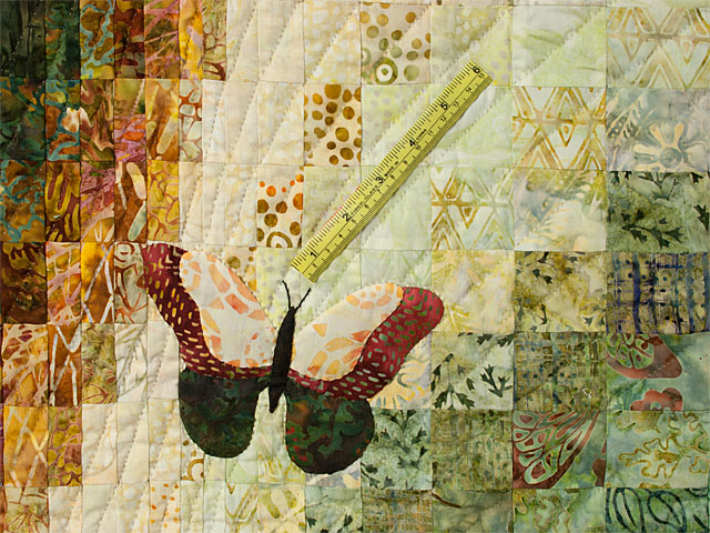 The Journey - King Quilt A combo of piecing, hand appliquéing, hand quilting Photo 8