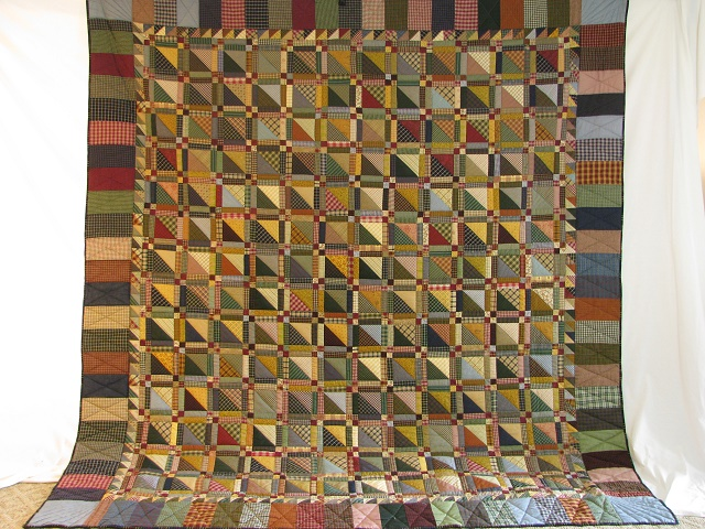Homespun Plaid Squares Quilt Photo 2