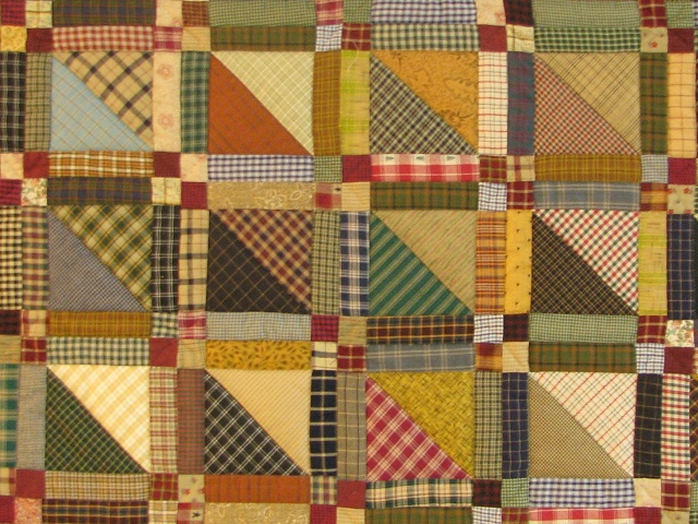 Homespun Plaid Squares Quilt Photo 3