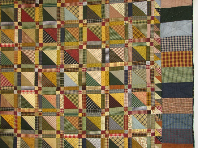 Homespun Plaid Squares Quilt Photo 4
