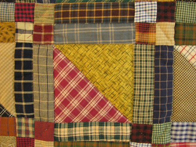 Homespun Plaid Squares Quilt Photo 5