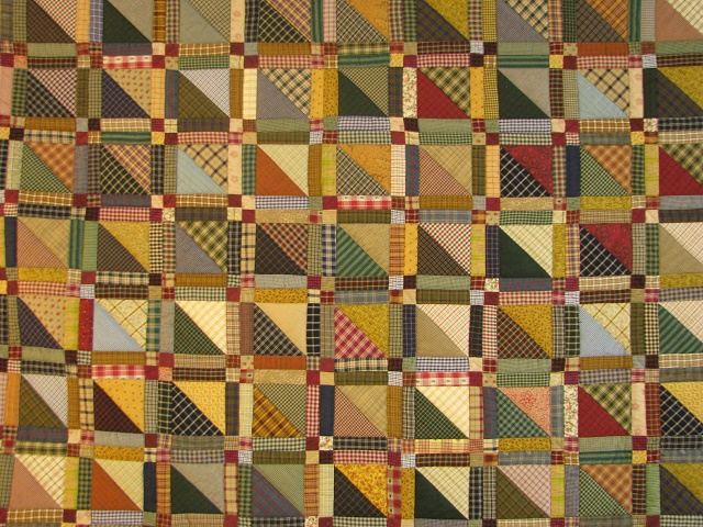 Homespun Plaid Squares Quilt Photo 8