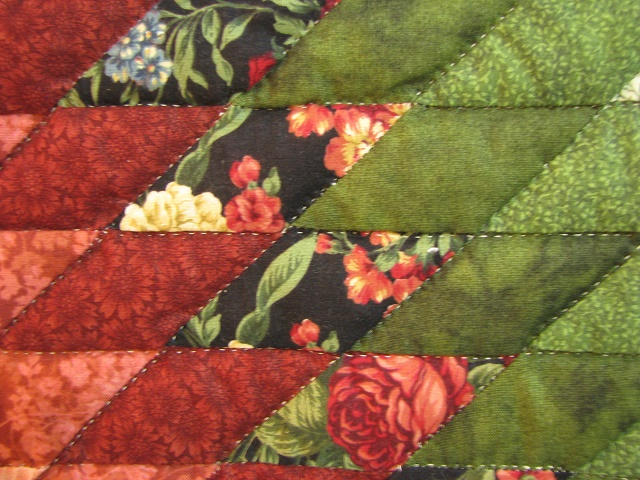 Twin Green and Rose Lone Star Quilt Photo 5