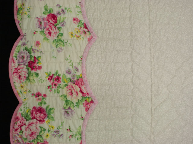 Lancaster Treasure in rose and lilac on ivory Queen size hand appliqued and hand quilted Photo 5
