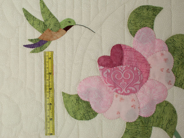 Lancaster Treasure in rose and lilac on ivory Queen size hand appliqued and hand quilted Photo 8