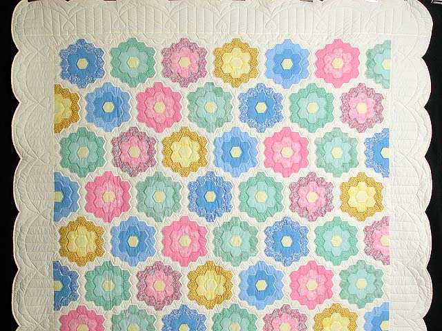 Pastel Multicolor Flower Garden Quilt Photo 2
