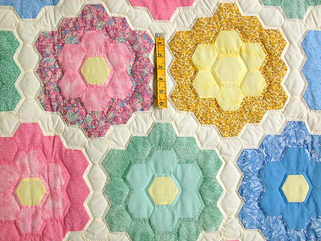 Pastel Multicolor Flower Garden Quilt Photo 4