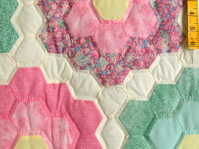 Pastel Multicolor Flower Garden Quilt Photo 5
