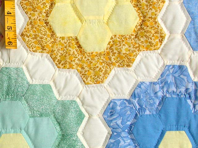 Pastel Multicolor Flower Garden Quilt Photo 6