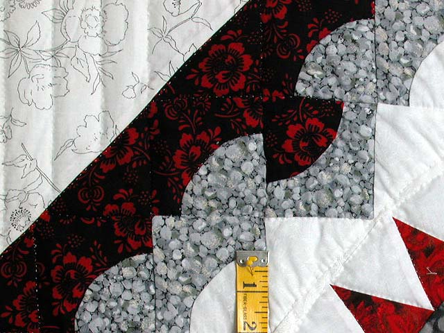Red and Black Stars over Georgetown Path Quilt Photo 6