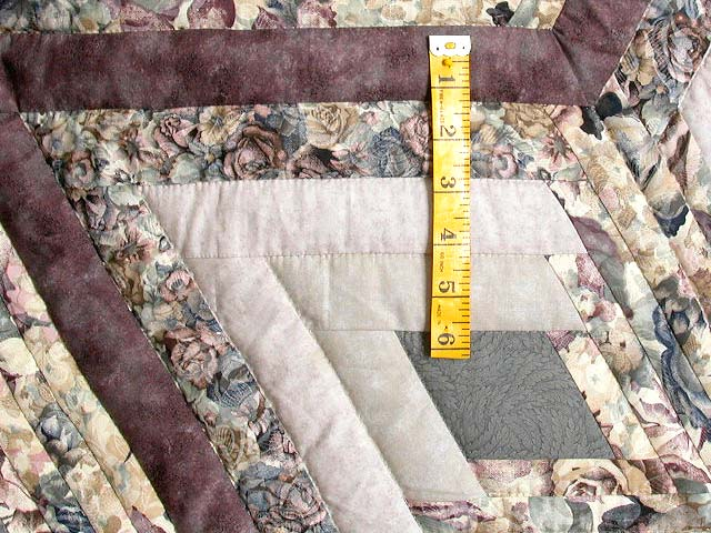 Lavender Diamond Log Cabin Star Quilt Photo 5