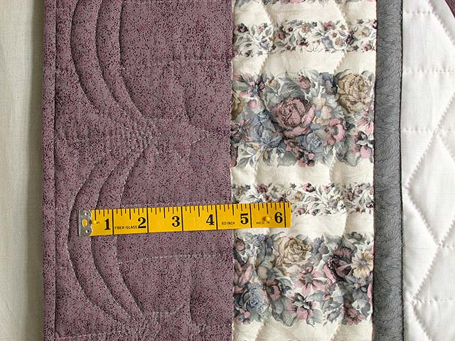 Lavender Diamond Log Cabin Star Quilt Photo 7