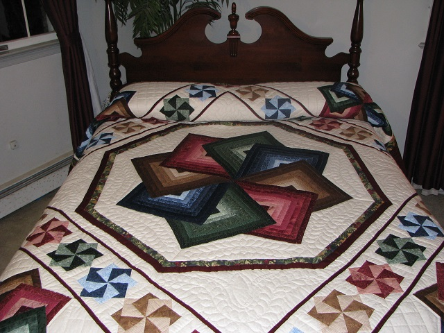 Jewel Colors Star Spin Quilt Photo 1