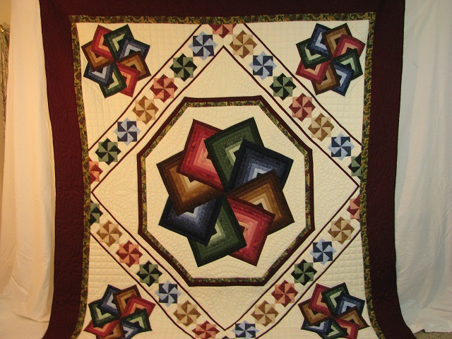Jewel Colors Star Spin Quilt Photo 2