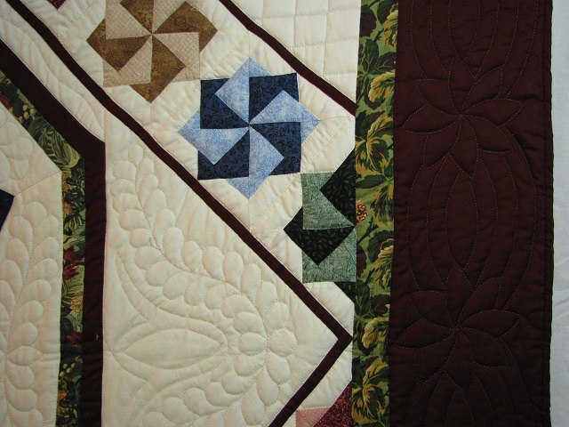 Jewel Colors Star Spin Quilt Photo 4