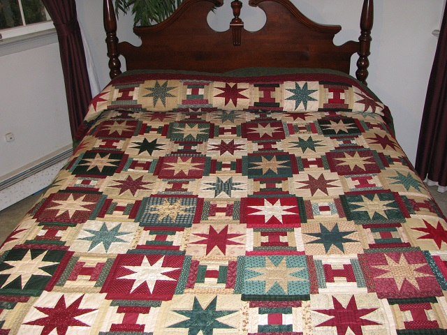 Courthouse Step Star Quilt Photo 1