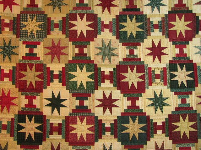 Courthouse Step Star Quilt Photo 3