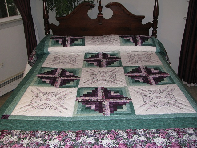 Cross Stitch Log Cabin Quilt Photo 1