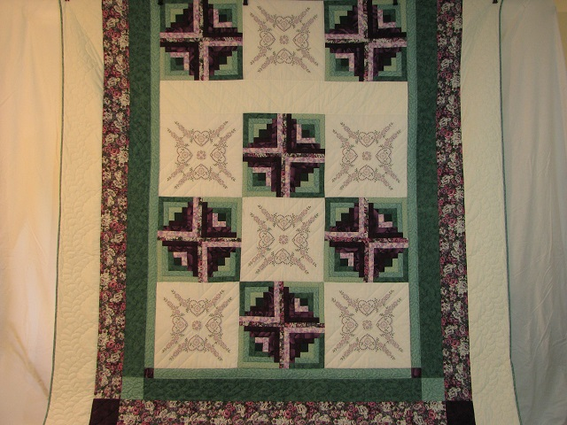 Cross Stitch Log Cabin Quilt Photo 2