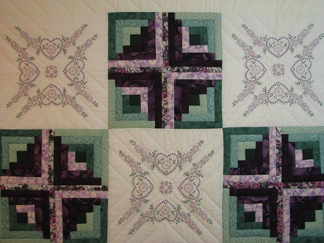 Cross Stitch Log Cabin Quilt Photo 3