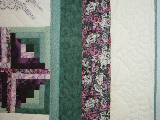 Cross Stitch Log Cabin Quilt Photo 4