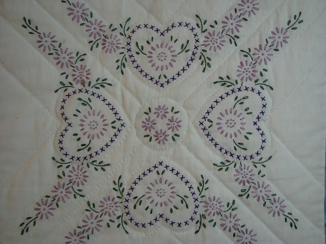 Cross Stitch Log Cabin Quilt Photo 5