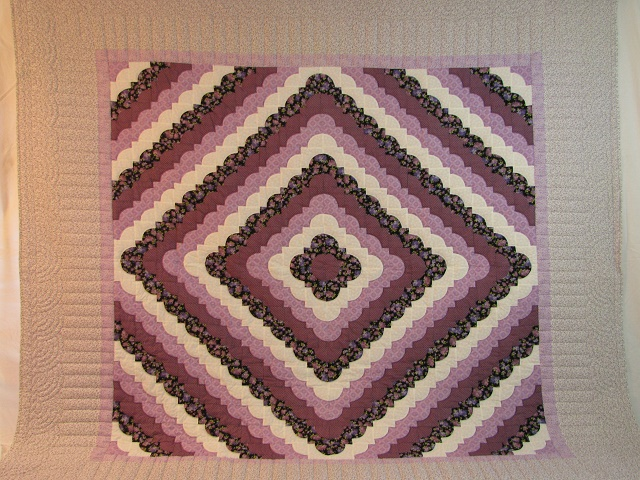 King Lavender Ocean Waves Quilt Photo 2