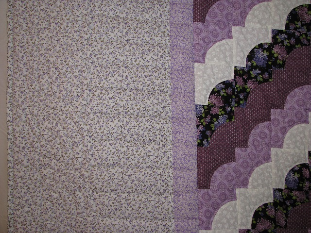 King Lavender Ocean Waves Quilt Photo 4