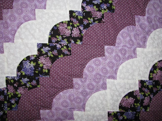 King Lavender Ocean Waves Quilt Photo 5