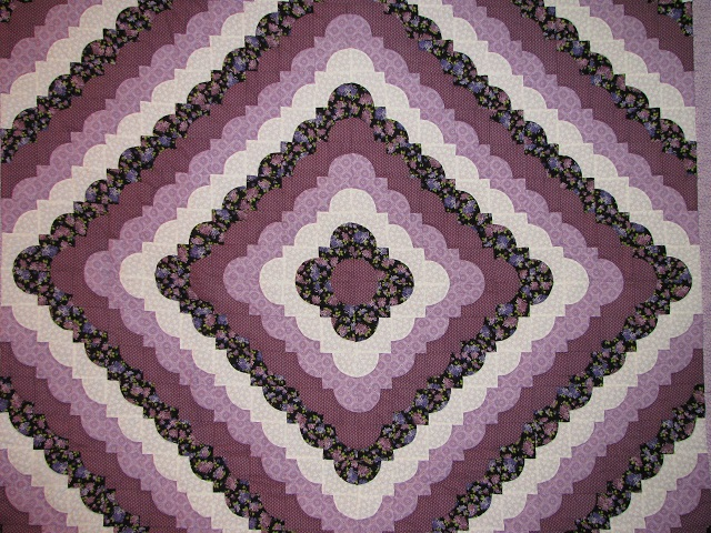 King Lavender Ocean Waves Quilt Photo 7