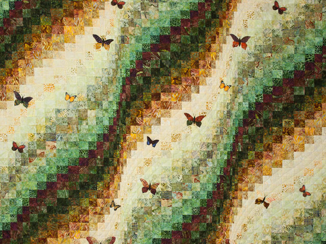 The Journey - Queen Quilt A combo of piecing, hand appliquéing, hand quilting Photo 3