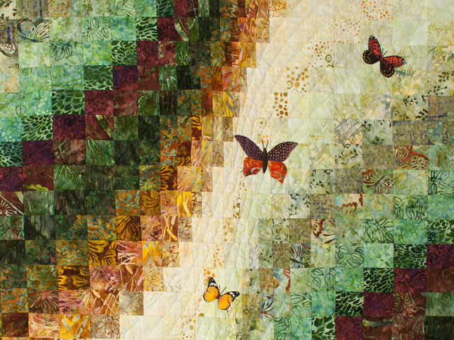 The Journey - Queen Quilt A combo of piecing, hand appliquéing, hand quilting Photo 4