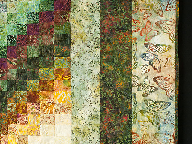 The Journey - Queen Quilt A combo of piecing, hand appliquéing, hand quilting Photo 5
