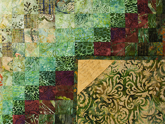 The Journey - Queen Quilt A combo of piecing, hand appliquéing, hand quilting Photo 6