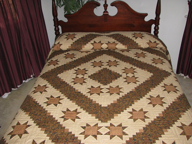 Earthtones Evening Star Cabin Quilt Photo 1