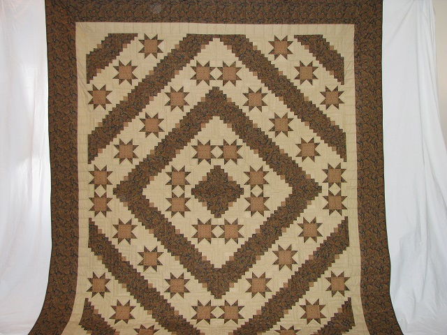 Earthtones Evening Star Cabin Quilt Photo 2