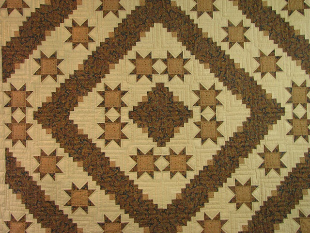 Earthtones Evening Star Cabin Quilt Photo 3