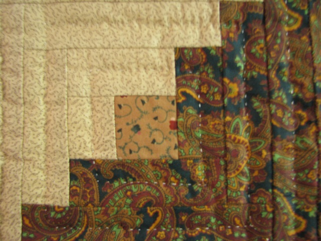 Earthtones Evening Star Cabin Quilt Photo 5