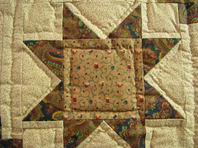 Earthtones Evening Star Cabin Quilt Photo 6