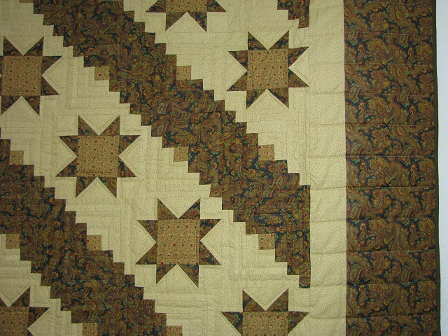 Earthtones Evening Star Cabin Quilt Photo 8