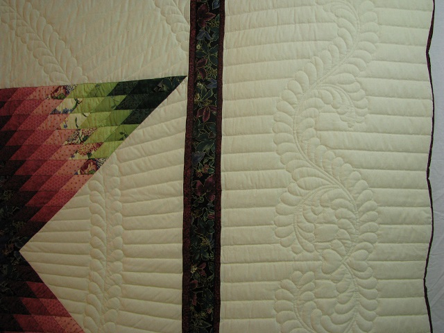 King Green, Blue, Red Lone Star Quilt Photo 4
