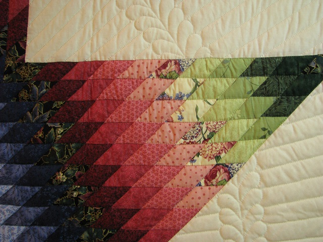 King Green, Blue, Red Lone Star Quilt Photo 6