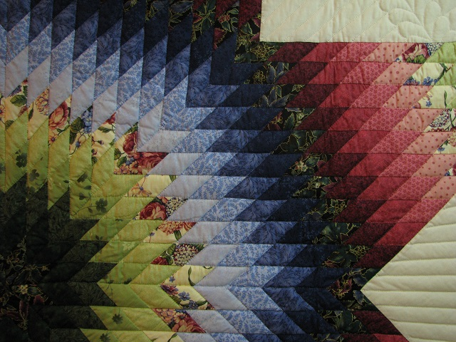 King Green, Blue, Red Lone Star Quilt Photo 7