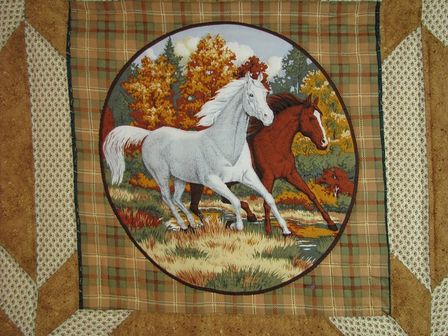 Chestnut Brown Horse Star Quilt Photo 6