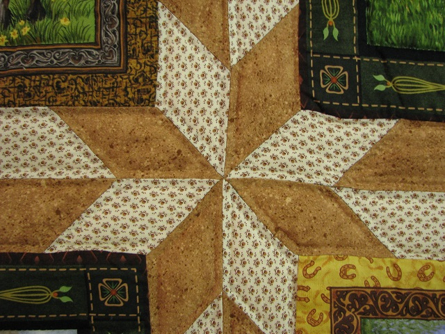 Chestnut Brown Horse Star Quilt Photo 8