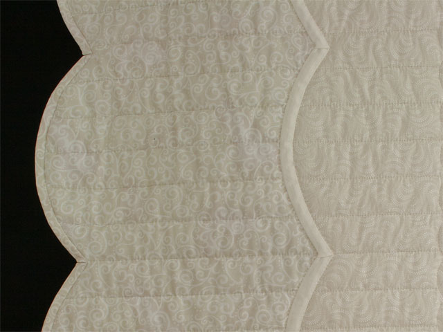 Lancaster Treasure King  Soft Neutrals-Hand Applique, Hand Quilted Photo 5