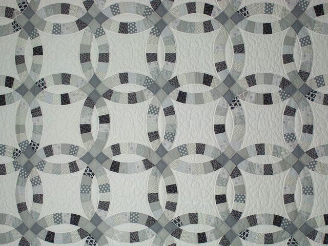 Queen Soft Gray, Slate, Smoke on White 