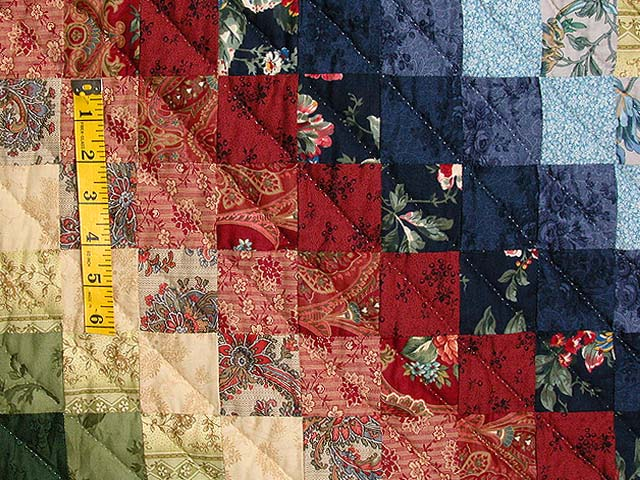 King Blue Rose Tan Sweetheart Sunshine and Shadow Quilt Photo 6